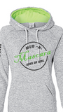 Mud N Mascara Kind of Girl Hoodie in Ice Grey/Lime Green