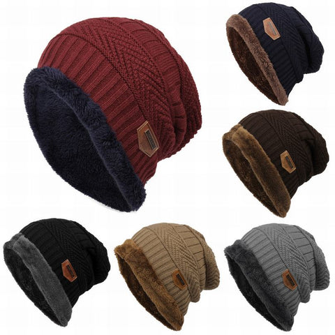 Beanie Knitted Caps With Velvet