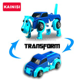 4 colors 14CM cool Automatic transform Dog Car