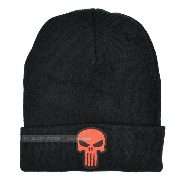 The Punisher Cool Black Skulls Beanie