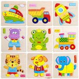 Cartoon Animals Dimensional Puzzle for Kids