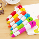 6 Pcs Cute Smiling Face Capsule Ballpens