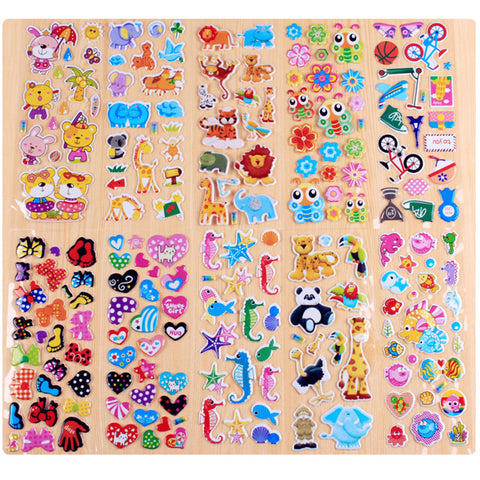 10 Different Cartoon Stickers