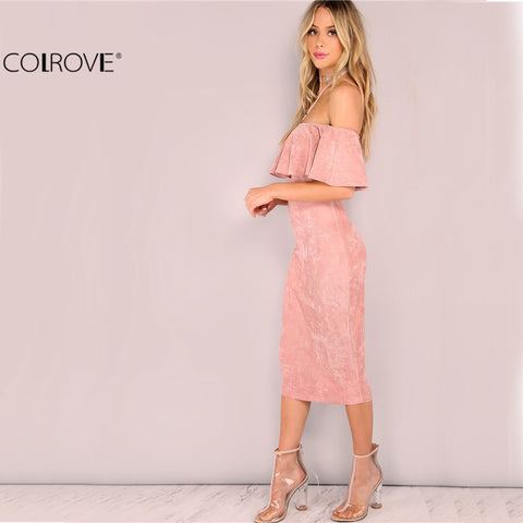 COLROVIE Elegant Off The Shoulder Dress