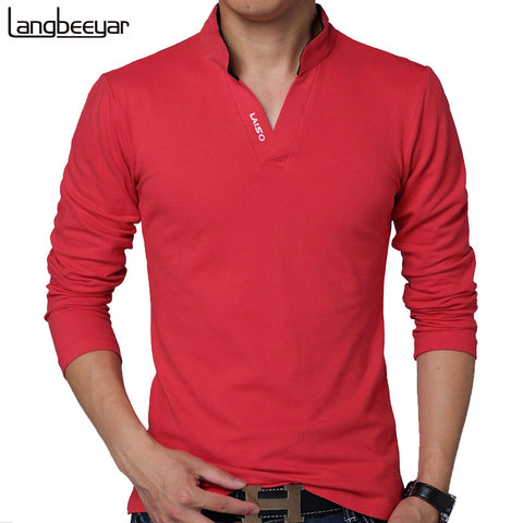 LANGBEEYAR New Fashion Brand MenT Shirts