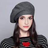 Female Knitted Cotton Berets
