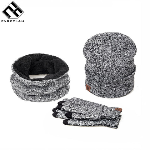 Evrfelan 3 Pieces Set Hat And Gloves