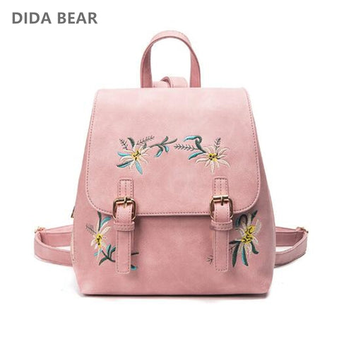 DIDA BEAR Brand Women Leather Backpacks