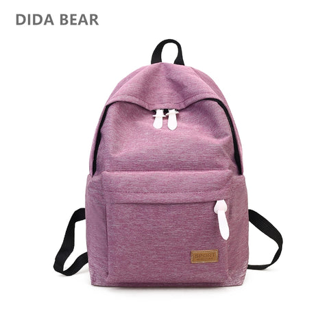 DIDA BEAR Canvas Backpacks