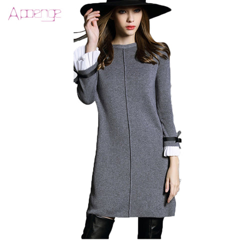 2018 New Woolen Knitted Dress