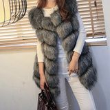 MCCKLE High quality Fur Vest coat