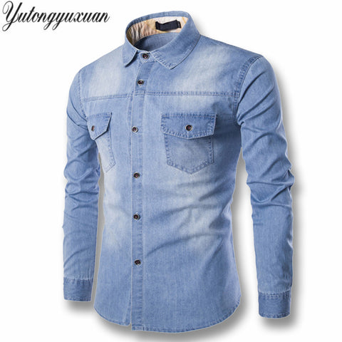 Light Denim Cotton Shirt