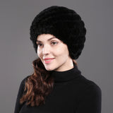 YH 100% genuine rabbit fur caps