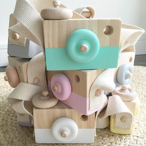 Cute Wooden Camera Toys