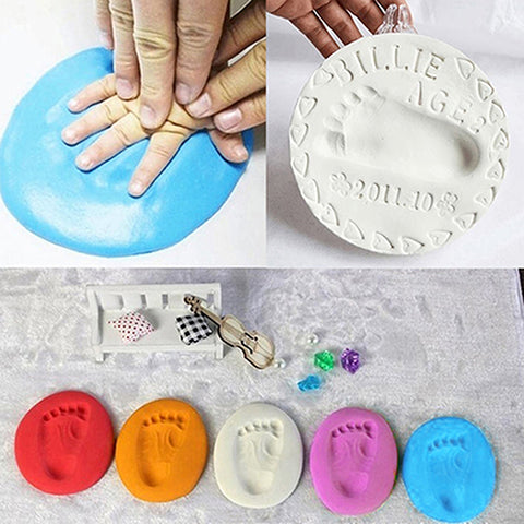 Creative Soft Clay For Baby Handprint Footprint