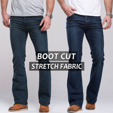 BOOT CUT Mens jeans different colors
