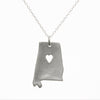 Sterling silver Alabama necklace
