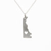 Sterling silver Delaware necklace