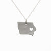 Sterling silver Iowa necklace