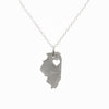 Sterling silver Illinois necklace
