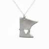 Sterling silver Minnesota necklace
