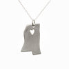 Sterling silver Mississippi necklace