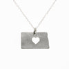 Sterling silver North Dakota necklace