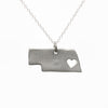 Sterling silver Nebraska necklace