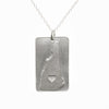 Sterling silver New Hampshire necklace