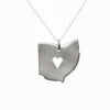 Sterling silver Ohio necklace