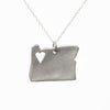 Sterling silver Oregon necklace