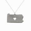 Sterling silver Pennsylvania necklace