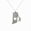Sterling silver Rhode Island necklace