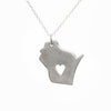 Sterling silver Wisconsin necklace