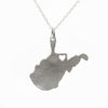 Sterling silver West Virginia necklace