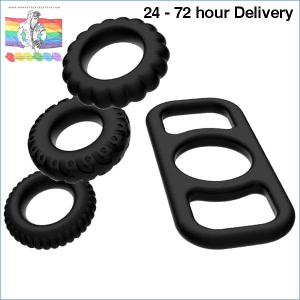 ADDICTED TOYS COCK RING SET 4 PIECES XXX toys|For him Online sex toy store Namaste Gay Sex Toys