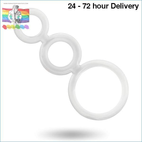 ADDICTED TOYS RINGS SET FOR PENIS TRANSPARENT XXX toys|Accessories for the penis Online sex toy store Namaste Gay Sex Toys