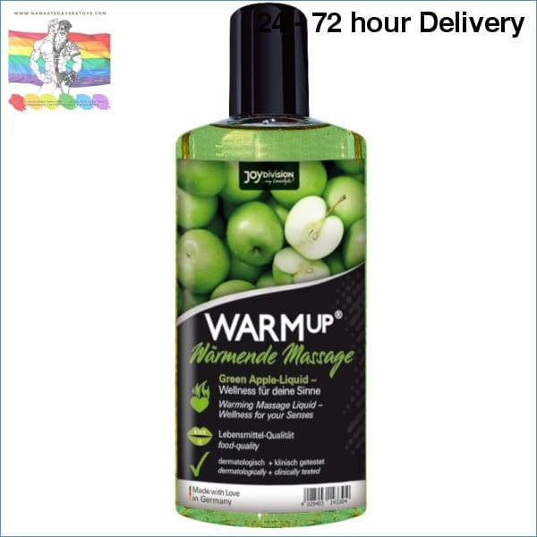 AQUAGLIDE - WARMUP GREEN APPLE MASSAGE OIL - 150 ML Oils and lubes|Massage oils Creams|Warming effect Online sex toy store Namaste Gay Sex