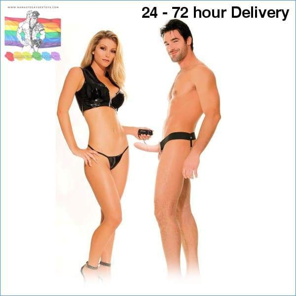 FETISH HOLLOW VIBRATOR HARNESS FOR HIM AND HER NATURAL 14CM XXX toys|Harnesses Online sex toy store Namaste Gay Sex Toys