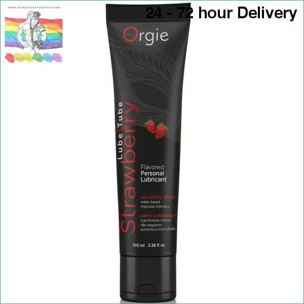 ORGIE STRAWBERRY WATER BASED LUBE 100 ML Oils and lubes|Lubes|Flavours Online sex toy store Namaste Gay Sex Toys