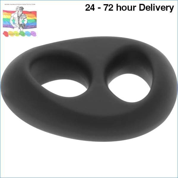 POWERING SUPER FLEXIBLE RESISTANT RING PR13 DOUBLE BLACK XXX toys|Accessories for the penis Online sex toy store Namaste Gay Sex Toys