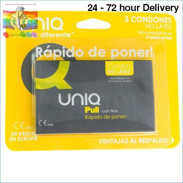 UNIQ PULL FREE LATEX 3UDS Condoms|Special condoms Online sex toy store Namaste Gay Sex Toys