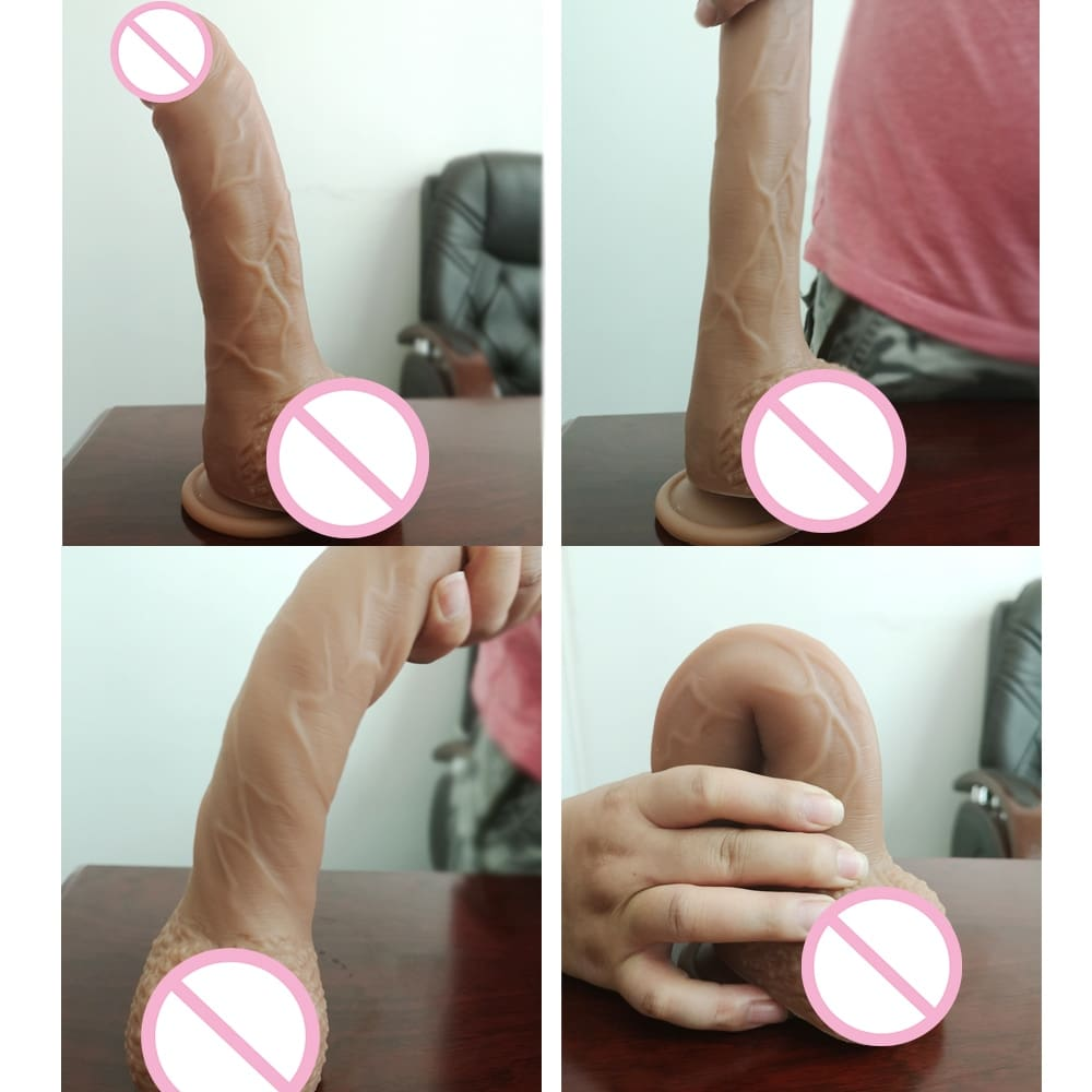 New Skin Realistic Super Huge Cock Dildo With Suction Cup