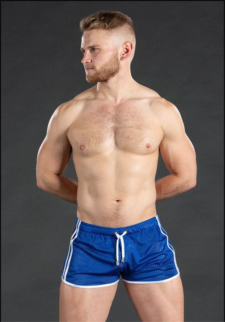 Summer Breathable Mesh Fitness shorts for men. Quick Drying Sportswear or Beach shorts