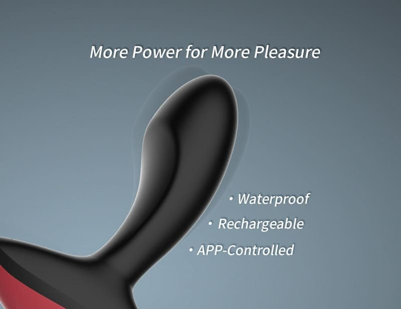 Smart Anal Plug. Vibrating Prostate Massager. Bluetooth Wireless Control Masturbator