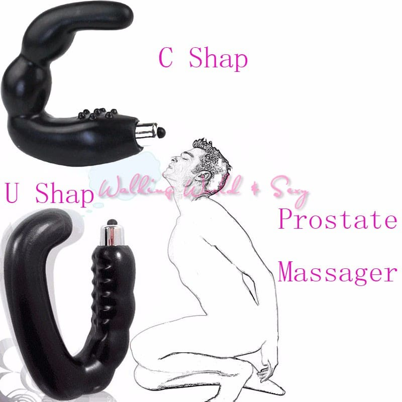 UC Shape G-Spot Anal Vibrator Prostate Massager Male Masturbation Butt Plug Anal Sex Toys For Men Gay Adult Adult Sex Products (2)