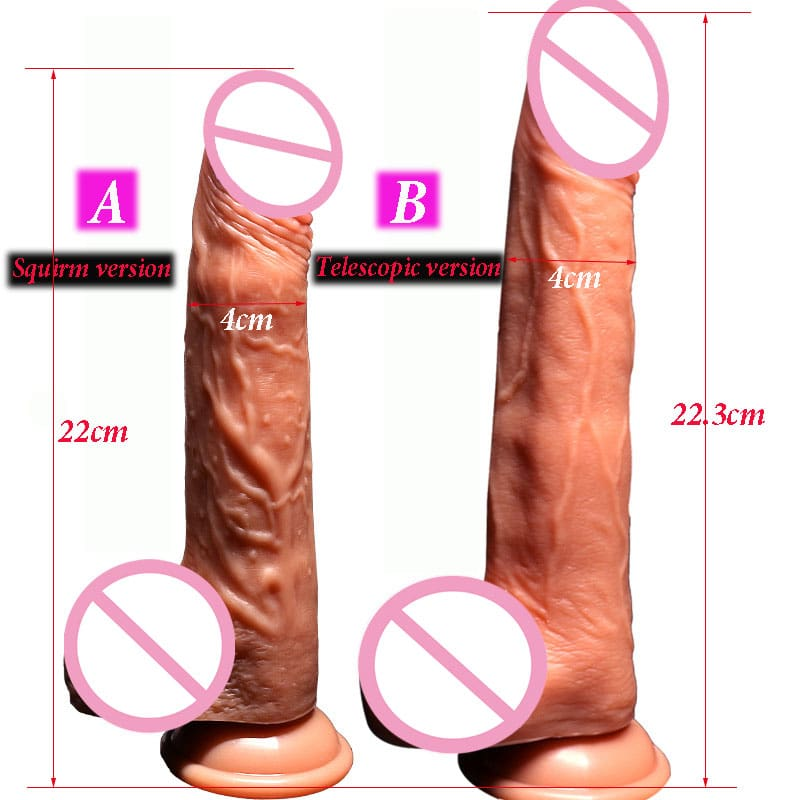 Smart Heating Automatic Telescopic Dildo. Feels just like a real cock....only much better.
