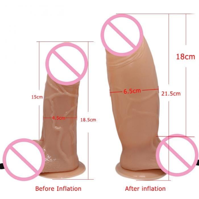 Realistic Inflatable Cock with Air Pump