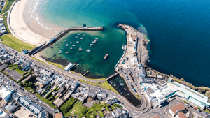 Ramore Restaurant Portrush Aerial photo - Fly Vertical Helicopter Tours