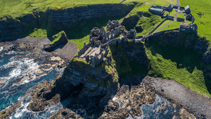 Dunluce Castle Northern Ireland Helicopter